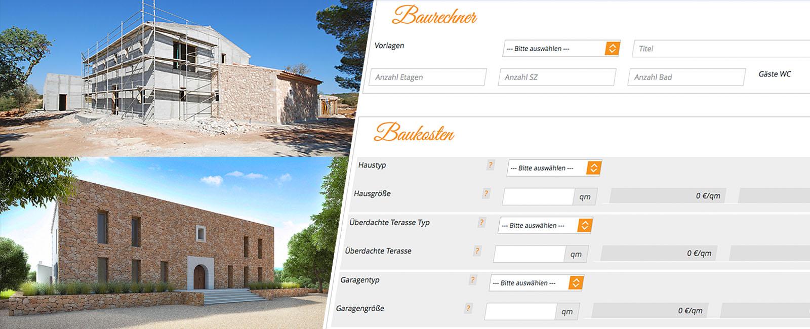 Baukostenrechner - ImmobilienBau Mallorca
